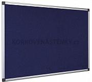 Textilní nástěnka AL rám 90 x 60 cm (modrá)