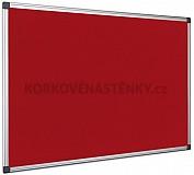 Textilní nástěnka AL rám 90 x 60 cm (červená)