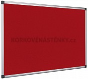Textilná nástenka AL rám 90 x 60 cm (červená)