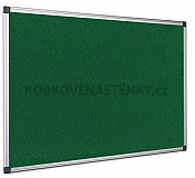Textilní nástěnka AL rám 120 x 90 cm (zelená)