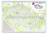 Automapa ČR magnetická popisovacia 82 x 115 cm