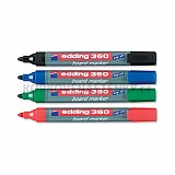 Popisovače Edding 360 - sada základních barev 4 ks (plnitelné)