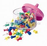 Špendlíky plastové barevné - sada 100 ks
