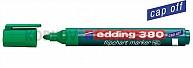 Popisovač na papierové bloky Edding 380 zelený (plniteľný)