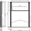 Magnetická tabuľa TRIPTYCH K/PYLON AL II. 200 x 120 cm