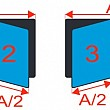 Magnetická tabule se středním křídlem PIVOT KZ 200 x 120 cm