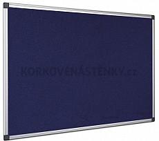 Textilná nástenka AL rám 120 x 90 cm (modrá)